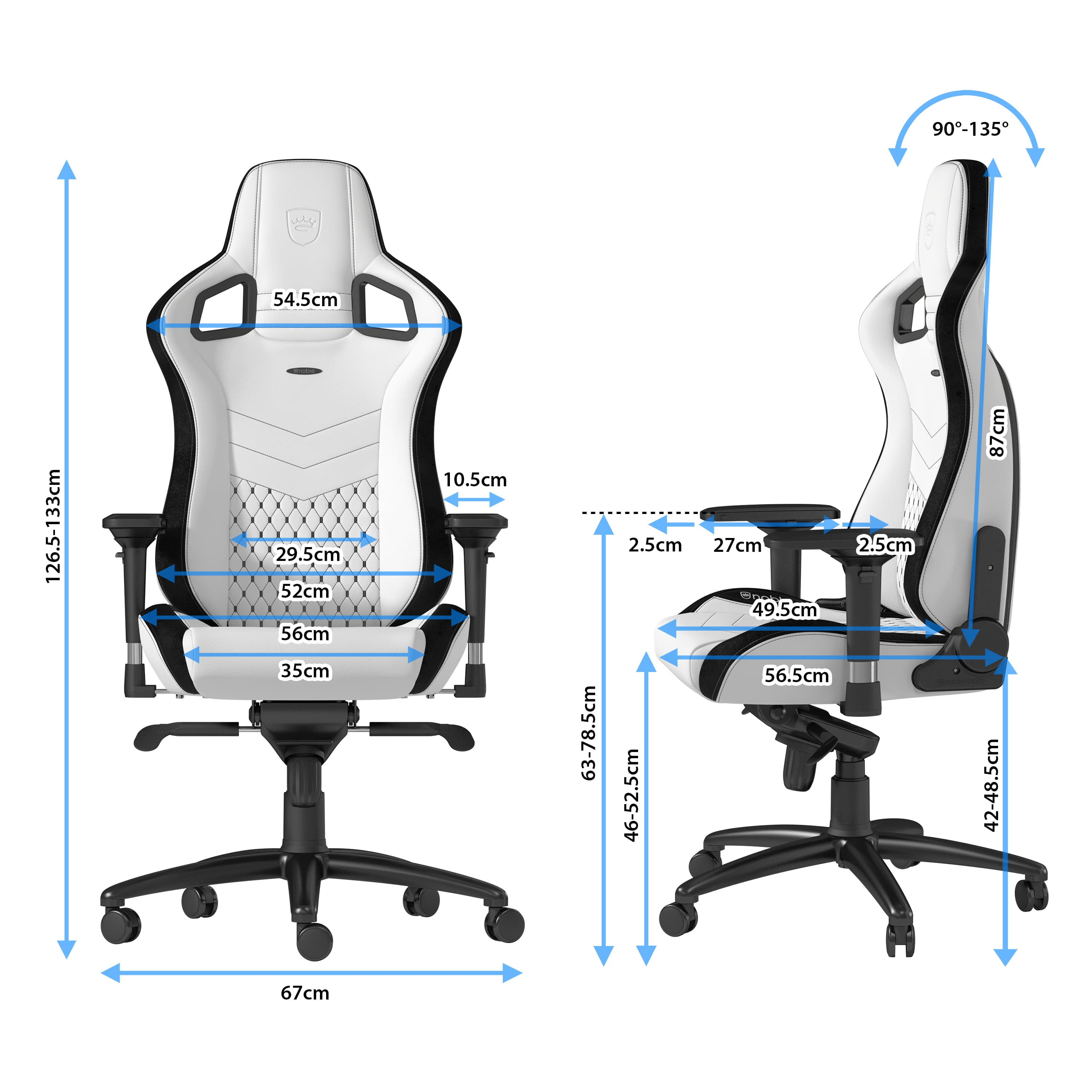 noblechairs-EPIC-White-size